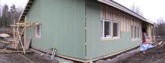 Weatherboards almost up.