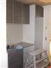 Space for the washing machine and drying cupboard